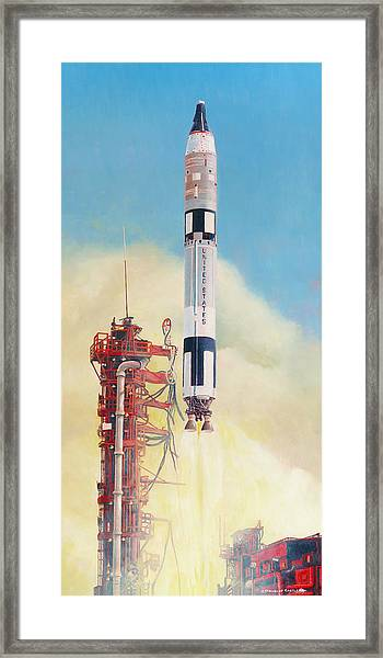 Gemini-titan Launch Framed Print