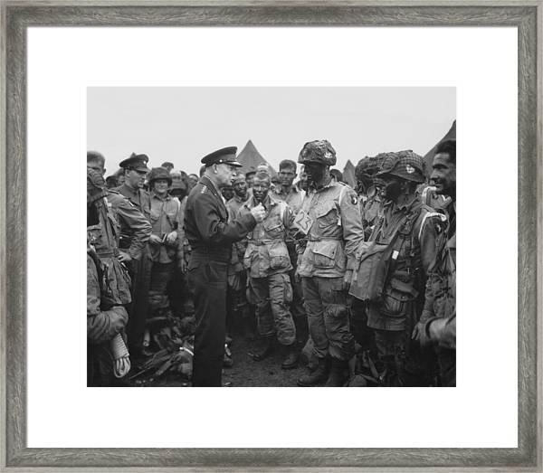 General Eisenhower On D-day  Framed Print