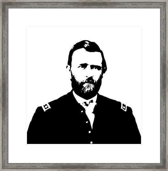 General Grant Black And White  Framed Print
