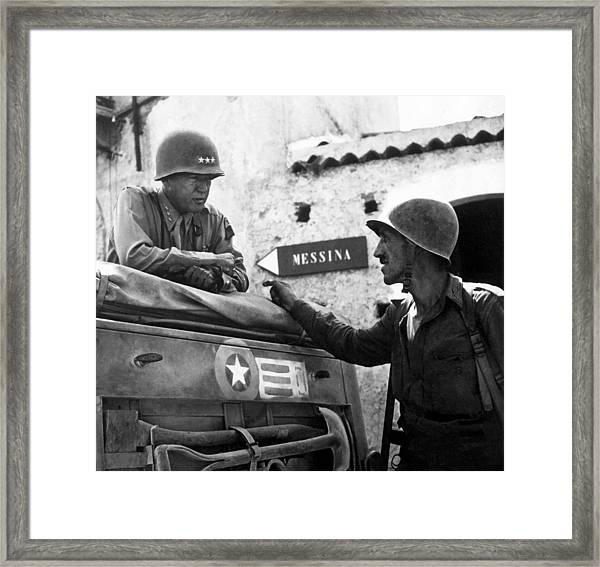General Patton In Sicily Framed Print