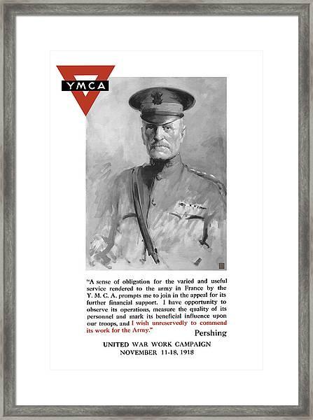 General Pershing - United War Works Campaign Framed Print
