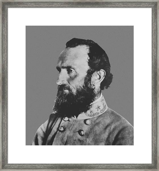 General Stonewall Jackson Profile Framed Print