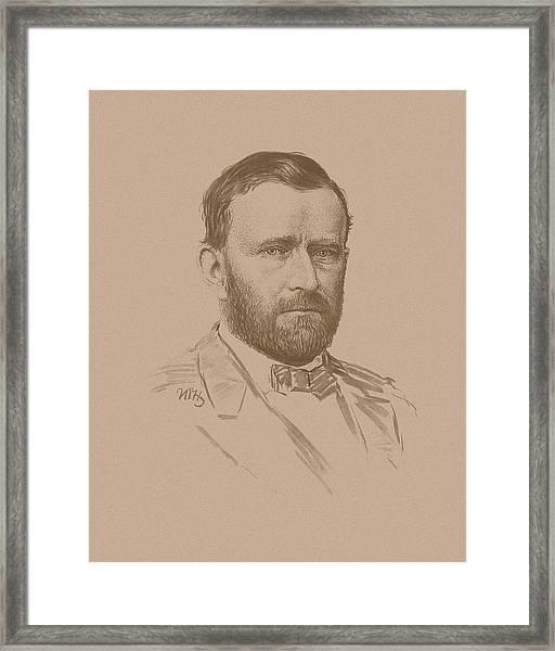 General Ulysses S Grant Framed Print
