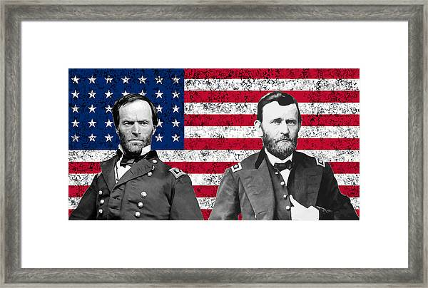 Generals Sherman And Grant  Framed Print