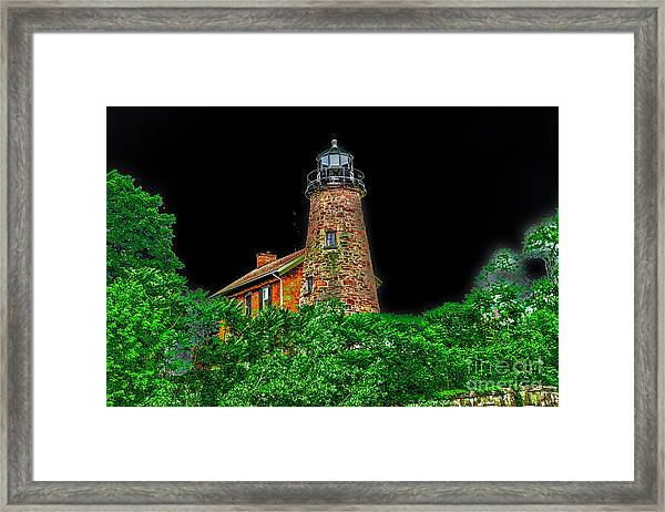 Genesee Lighthouse Framed Print