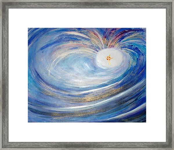 Genesis One 6 And 7 Framed Print