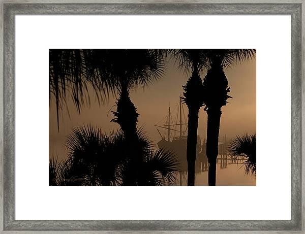 Foggy San Sebastian Sunrise Framed Print