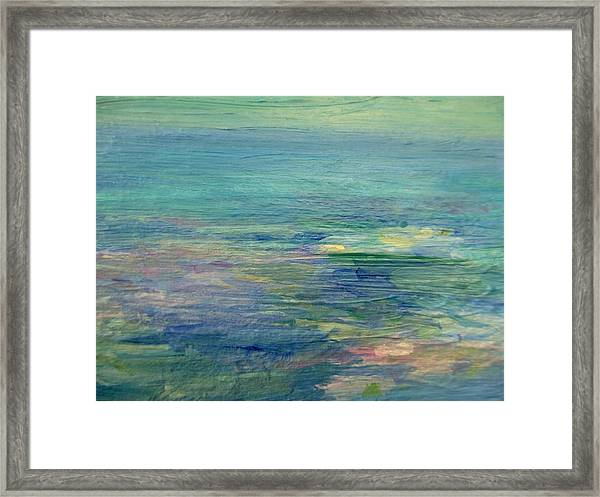 Gentle Light On The Water Framed Print