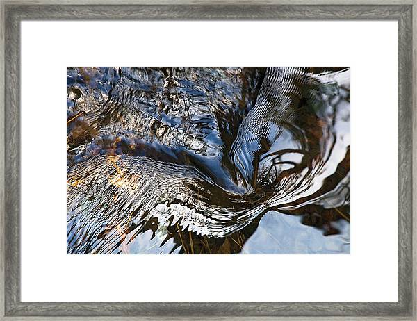 Gentle Swirl Ripple In River-3 Framed Print