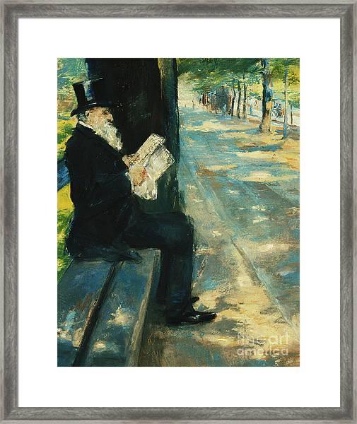 Gentleman In The Park Framed Print