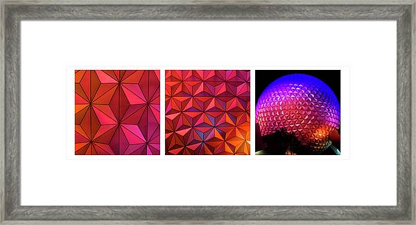 Geodesic Glow 2 Framed Print