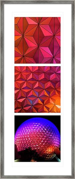 Geodesic Glow Framed Print