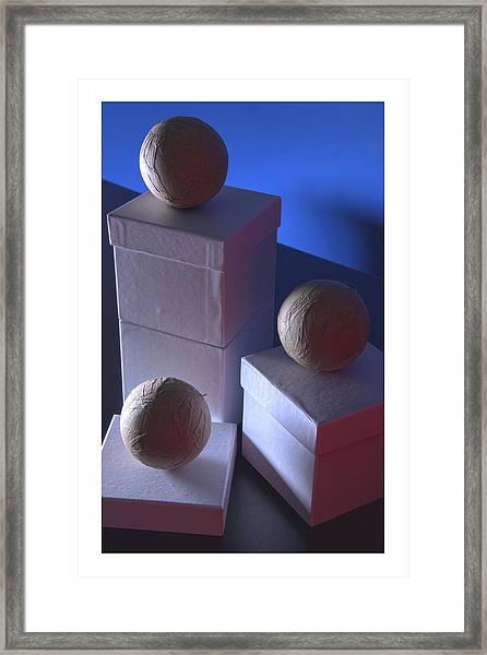 Framed Print featuring the photograph Geometric Triad by Break The Silhouette
