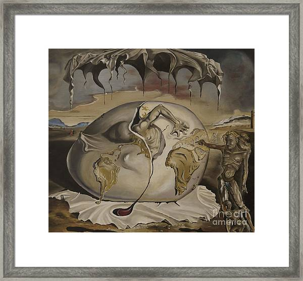 Dali's Geopolitical Child Framed Print