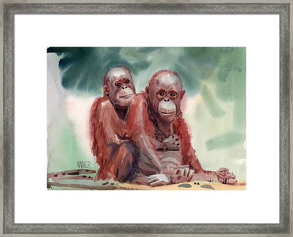 George And Gracy Framed Print
