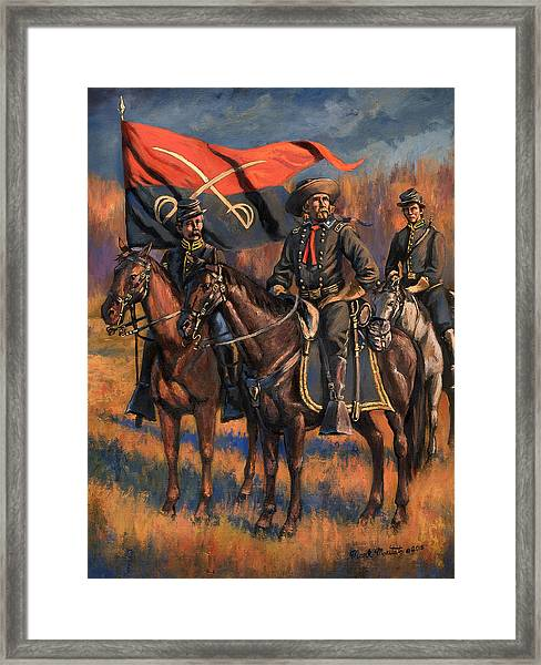 George Armstrong Custer Framed Print by Mark Maritato