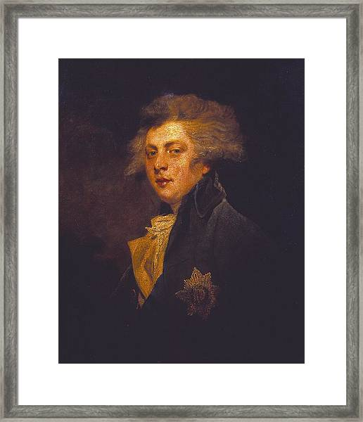 George Iv When Prince Of Wales Framed Print