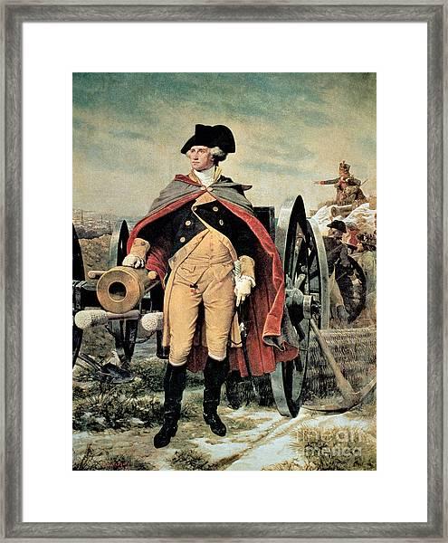 George Washington At Dorchester Heights Framed Print