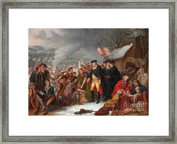George Washington At Valley Forge Framed Print
