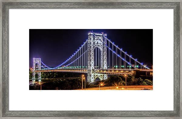 George Washington Bridge - Memorial Day 2013 Framed Print