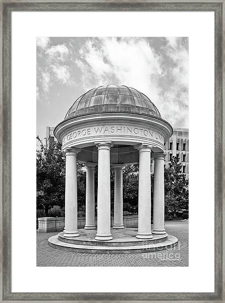 George Washington University Kogan Plaza Framed Print