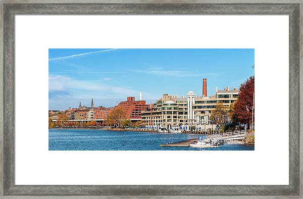 Georgetown Waterfront Early On A Fall Morning Cm2 Framed Print