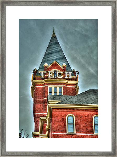 Georgia Tech Tower 8 Georgia Institute Of Technology Art Framed Print