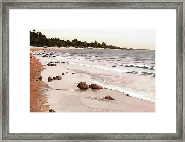 Georgian Bay Beach Framed Print