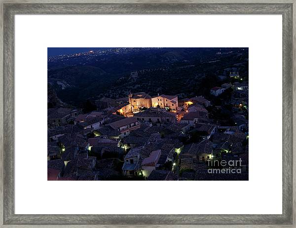 Italy, Calabria,gerace Framed Print
