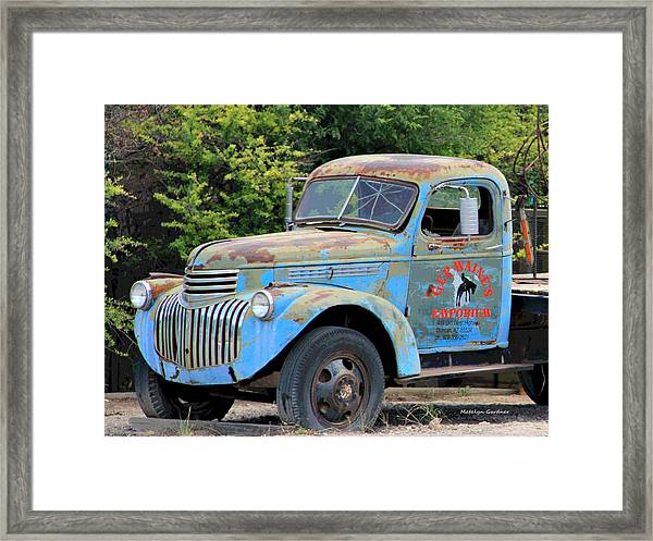 Geraine's Blue Truck Framed Print