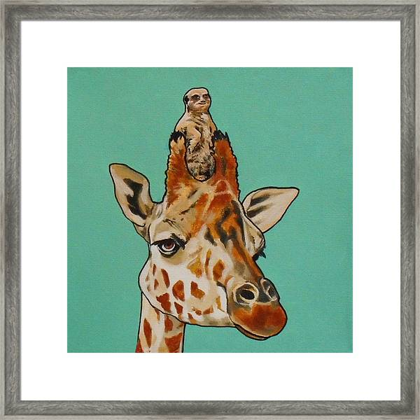 Gerald The Giraffe Framed Print