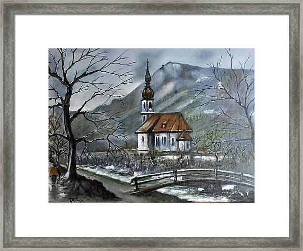 German Church At Ramsau  Framed Print