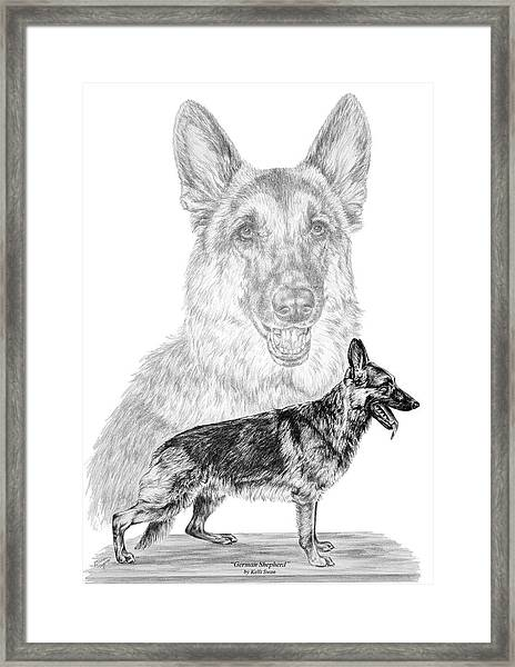 German Shepherd Dogs Print Framed Print