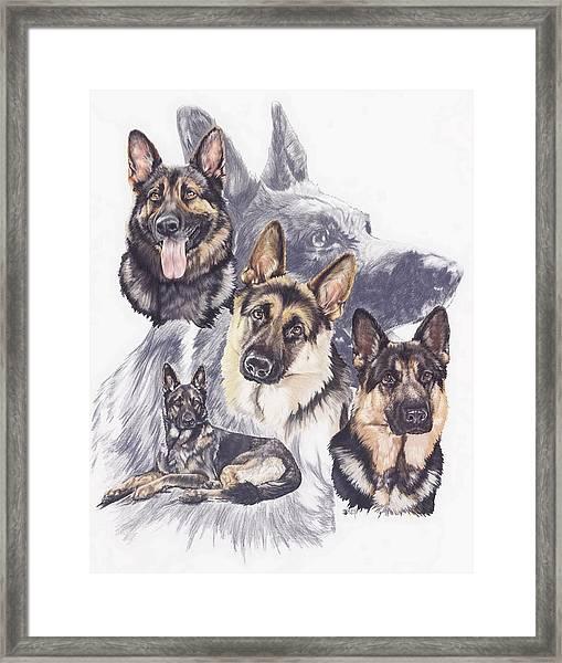 German Shepherd Medley Framed Print