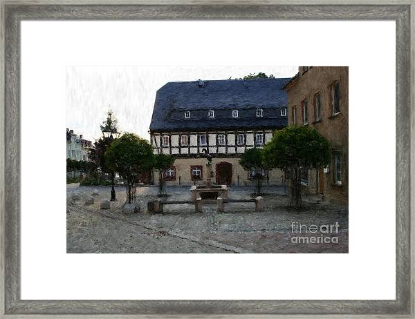 German Town Square Framed Print