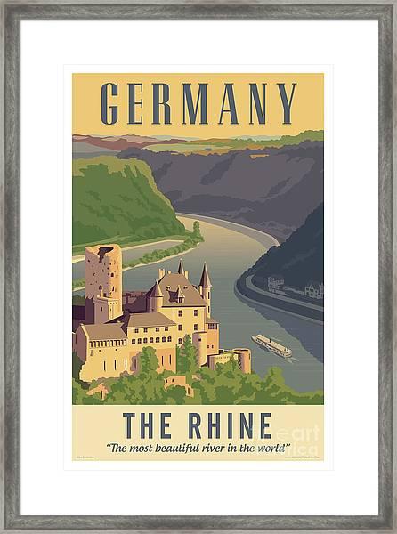 Germany Retro Poster Framed Print