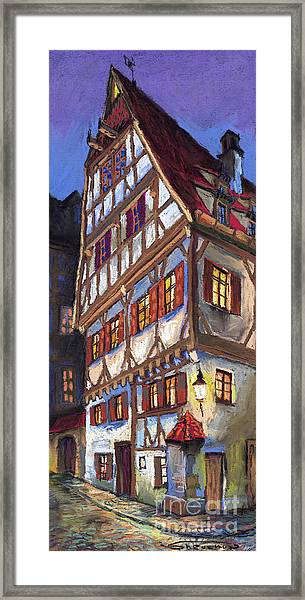 Germany Ulm Old Street Framed Print
