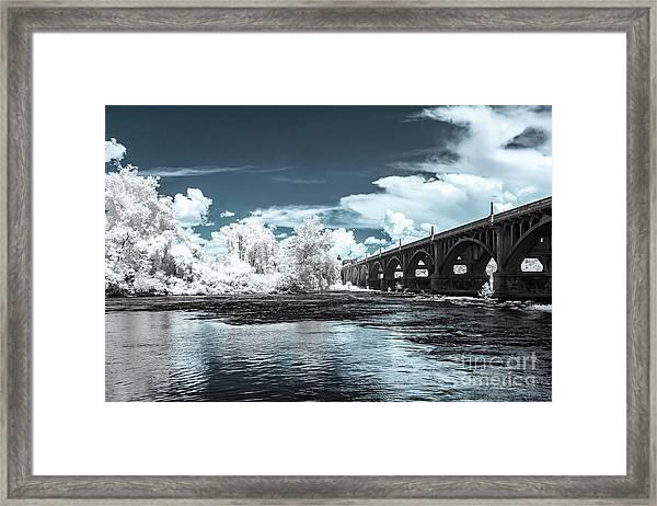 Gervais St. Bridge-infrared Framed Print