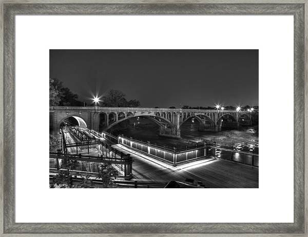 Gervais Street B-w Framed Print