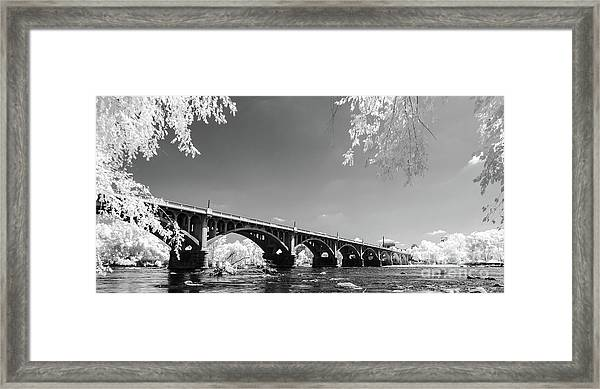 Gervais Street Bridge In Ir1 Framed Print