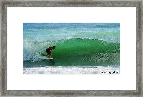 Getting Some Shade Framed Print