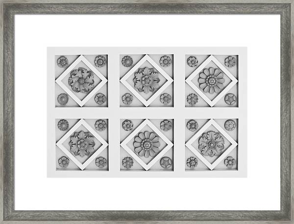 Getty Villa Coffered Peristyle Ceiling Framed Print