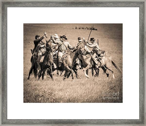 Gettysburg Cavalry Battle 7948s  Framed Print