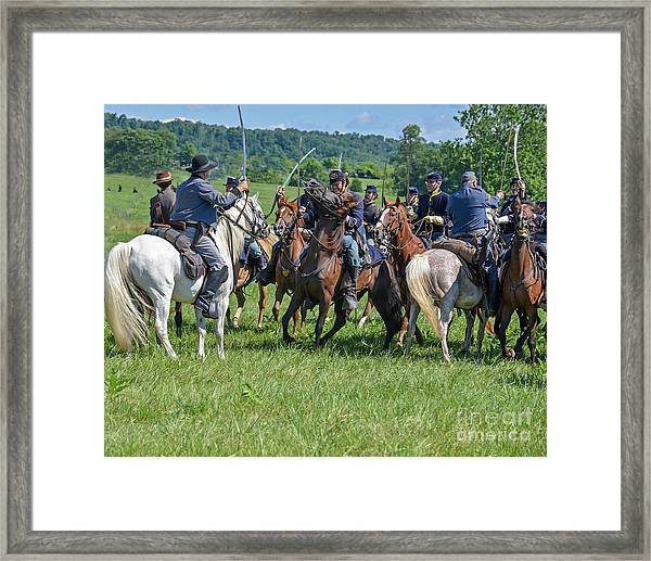 Gettysburg Cavalry Battle 7970c  Framed Print