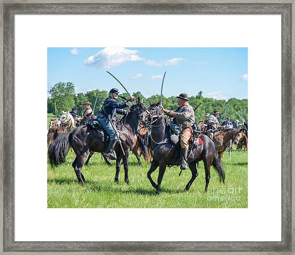 Gettysburg Cavalry Battle 7978c  Framed Print