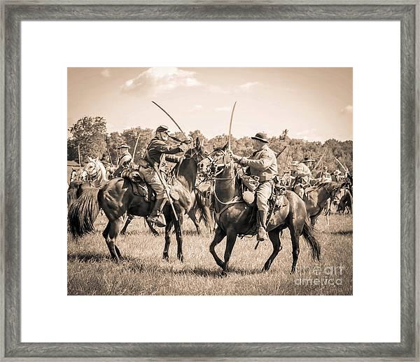 Gettysburg Cavalry Battle 7978s  Framed Print