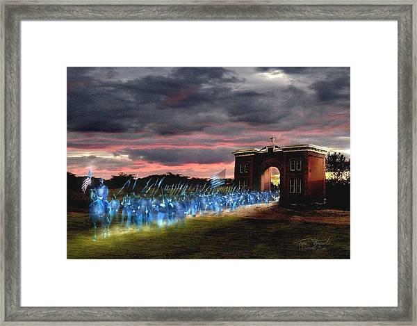 Gettysburg Evergreen Framed Print by Tom Straub