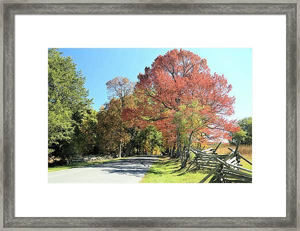 Gettysburg  In The  Fall Framed Print