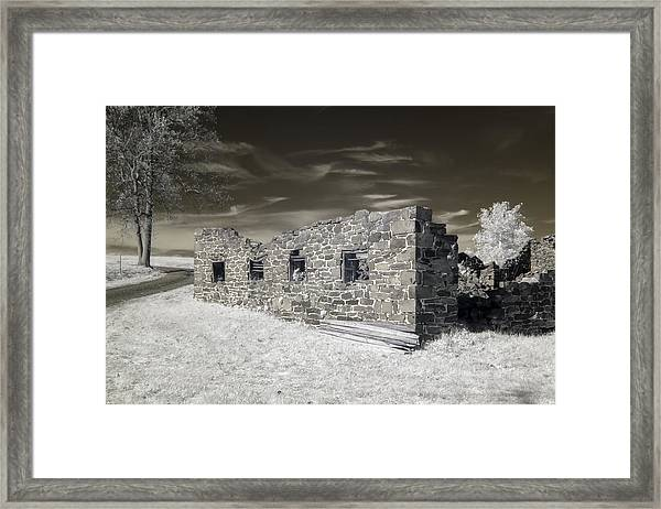 Gettysburg - Rose Farm Ruins Framed Print