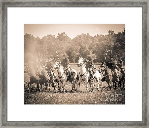Gettysburg  Union Cavalry 7901s  Framed Print